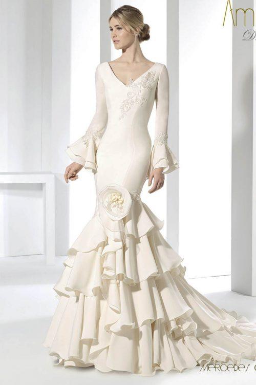 vestido novia amancer nupcial modelo dolar