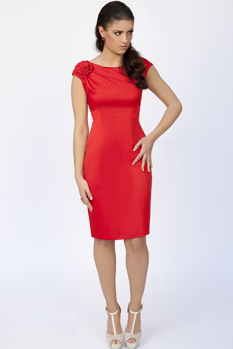 Vestido de fiesta corto rojo coleccion moncho heredia