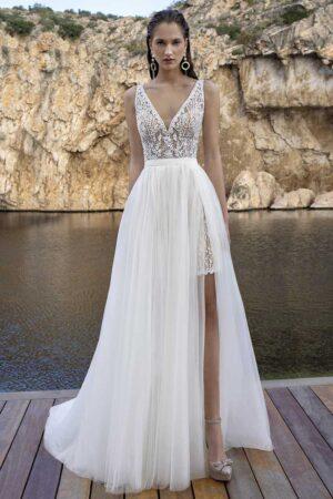 traje novia boda playa
