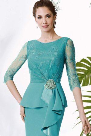 vestido madrina apertura lateral manila modelo clarmor 1