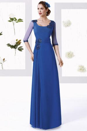 vestido madrina tul sedoso manila modelo diagonal