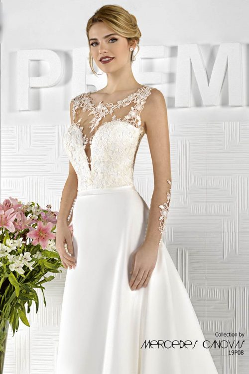 vestido novia amanecer nupcial modelo 19P08A