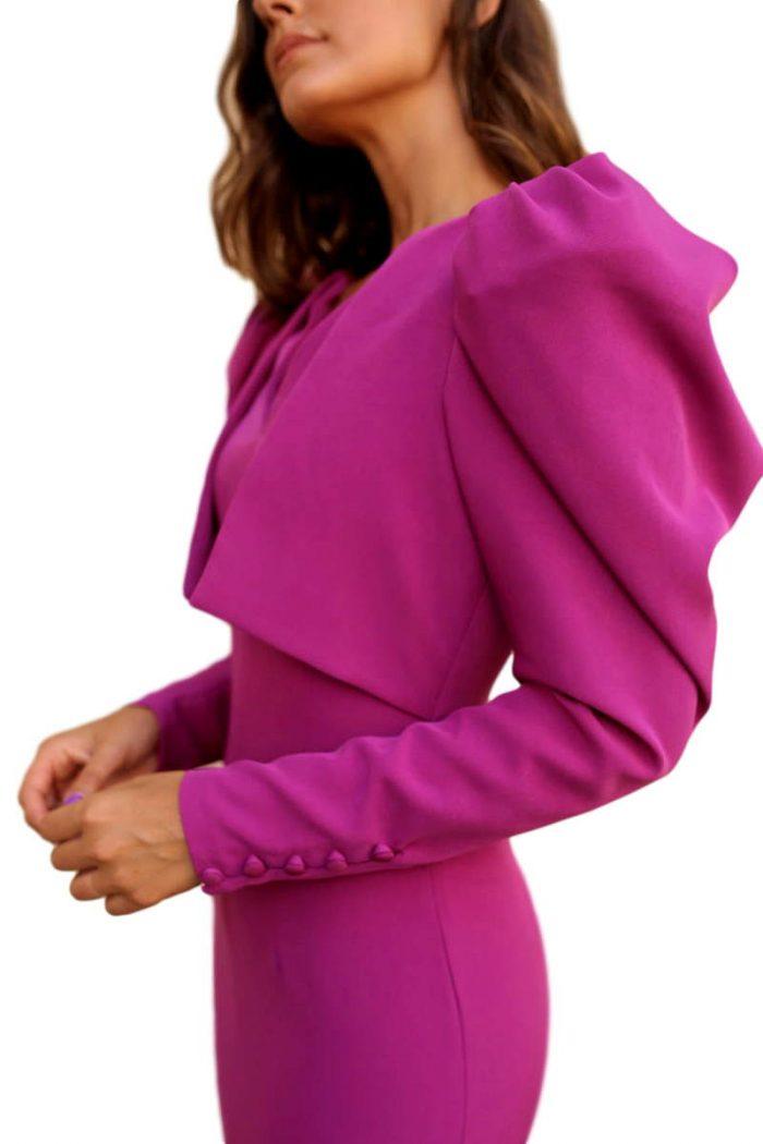 Vestido Fiesta Blanca Martin vestido buganvilla chaqueta 2