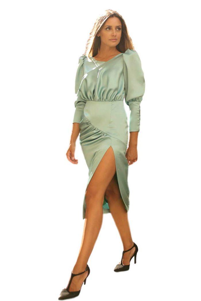 Vestido Fiesta Blanca Martin vestido verde agua alma