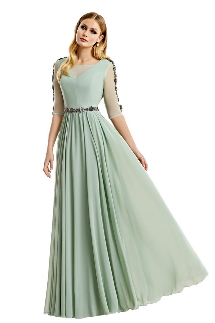 Vestido Madrina Esthefan Modelo NUEZ