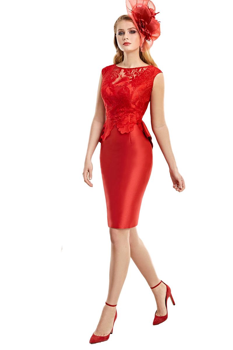 Vestido Madrina Fiesta Esthefan Modelo Nidasal 1