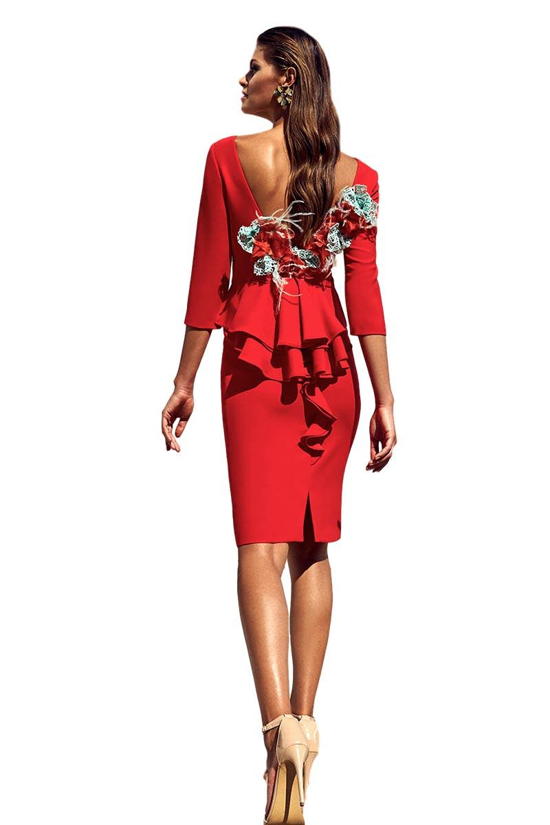 Vestido de coctel fiesta carla ruiz modelo 95706