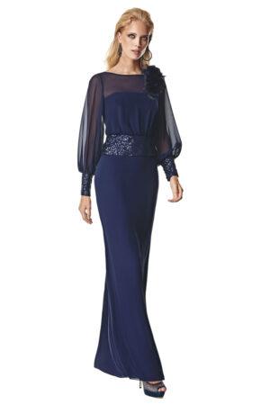 Vestido de fiesta Sonia Pena Modelo 1200001 con flor