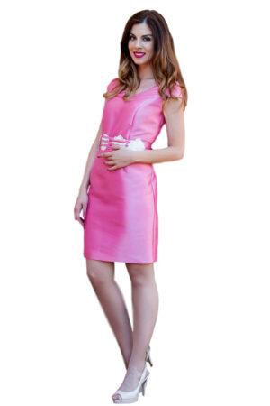 Vestido de fiesta rosa juvenil coctel