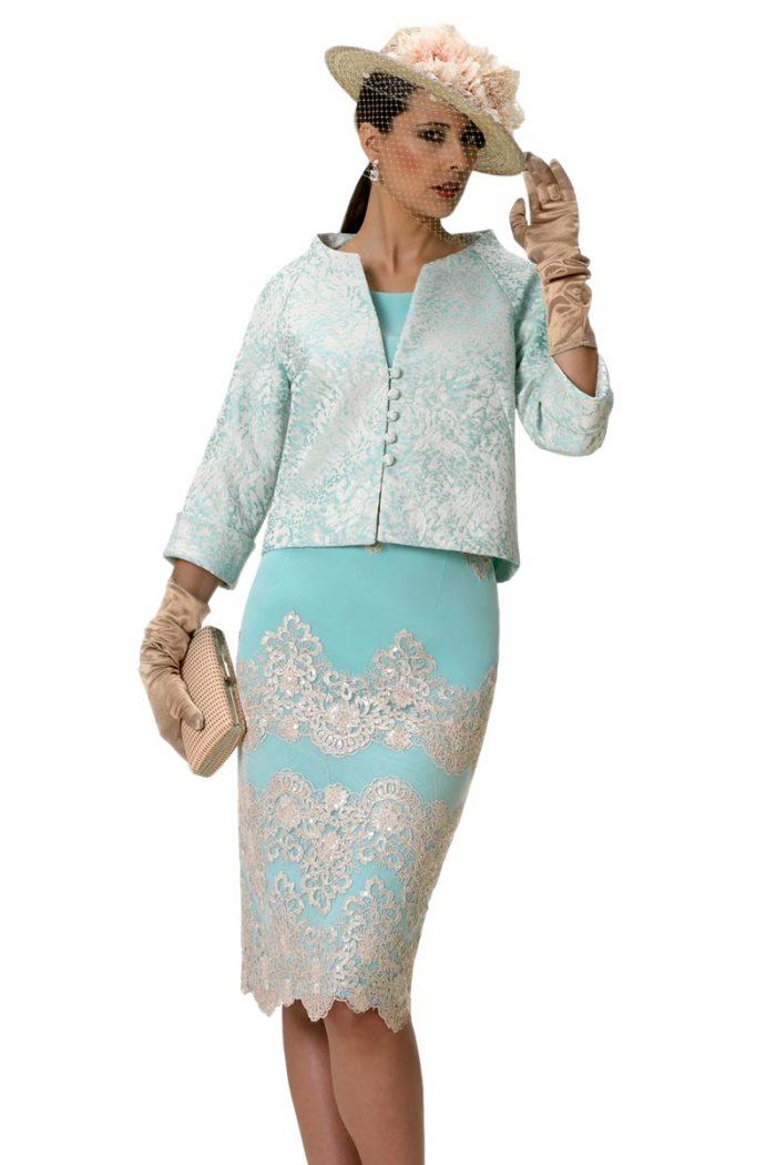 Vestido de madrina con chaqueta estehfan