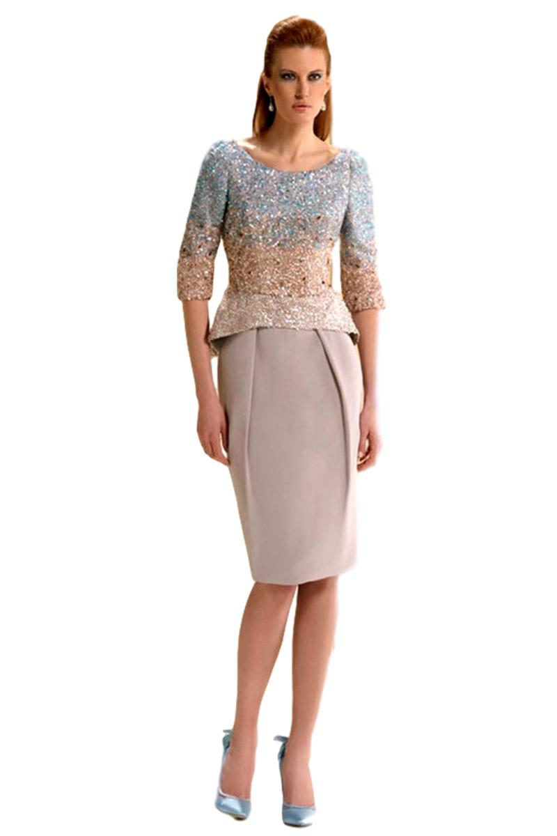 Vestido de madrina esthefan modelo boleo 010