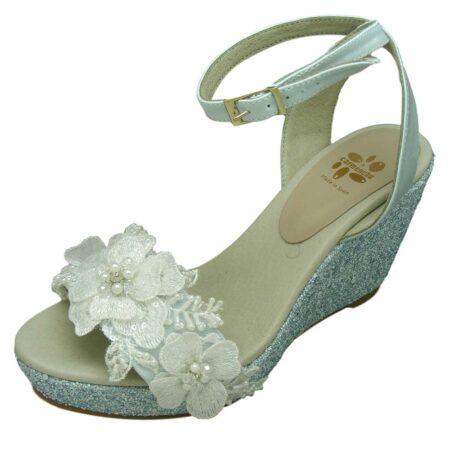 Alpargatas esparteñas novia modelo 227 azul