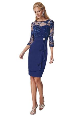 Vestido coctel fiesta azul klein sonia pena modelo 1200017A