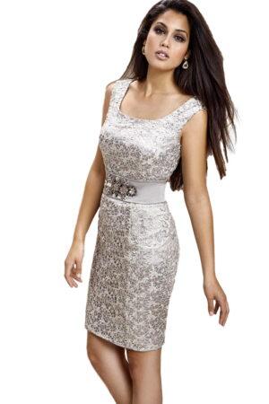 Vestido corto de coctel modelo zeila