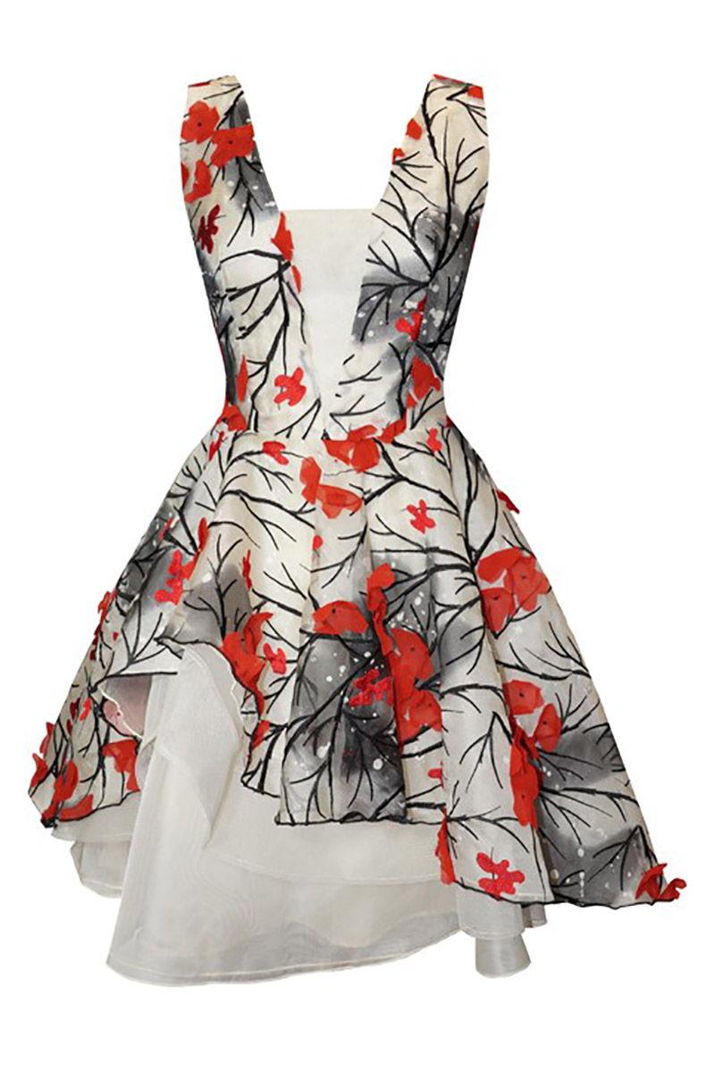 Vestido de coctel floral carla ruiz modelo 94833