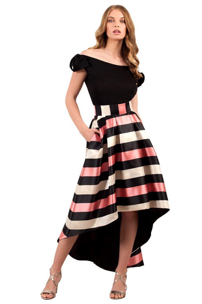 Vestido de fiesta fada y top Moncho Heredia modelo 2120.30 y 6194.46