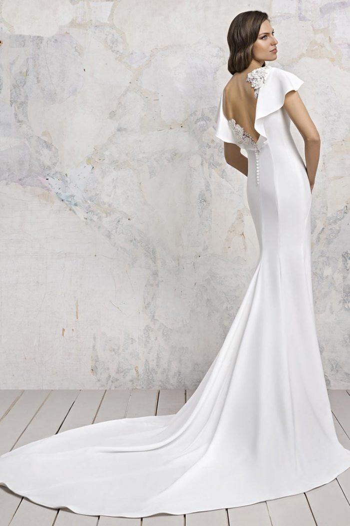 Vestido Novia Esthefan modelo peonias b