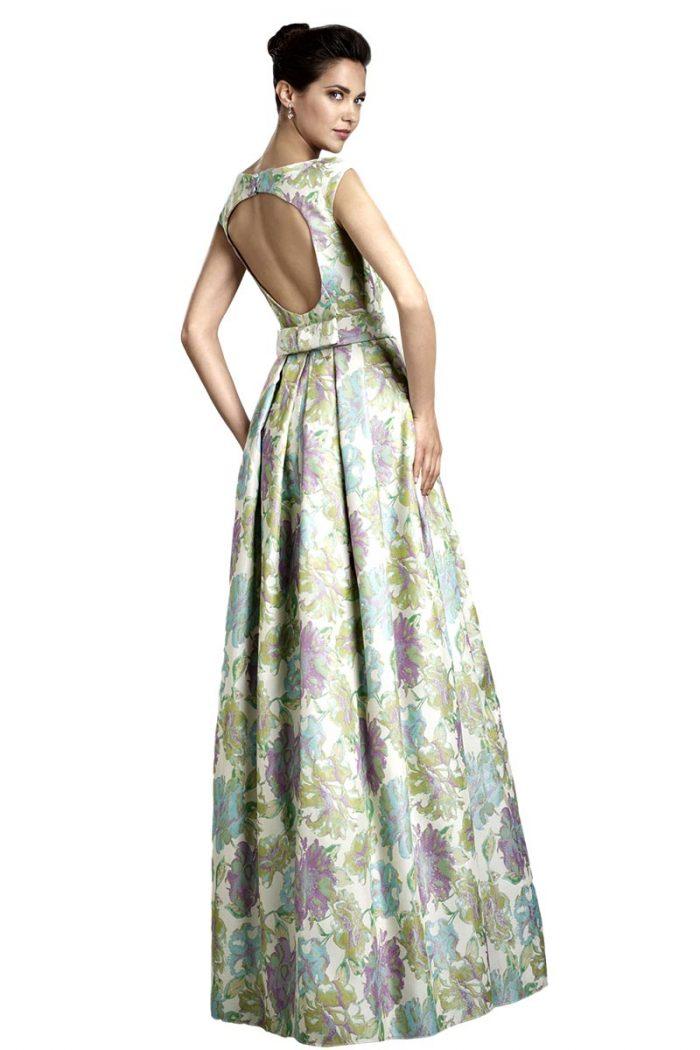 Vestido de fiesta largo manila modelo baculo b