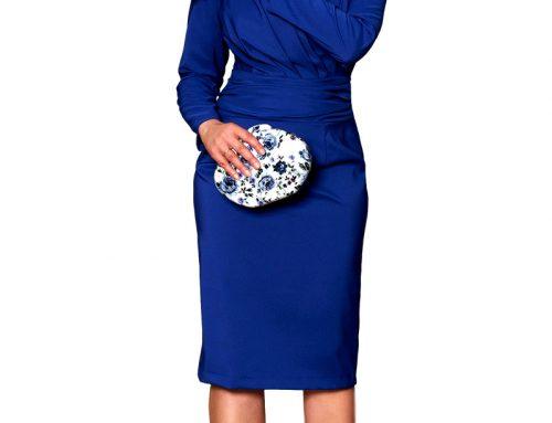 ¿Cómo combino un vestido azul? ¿Qué color elegir de zapatos o bolso?