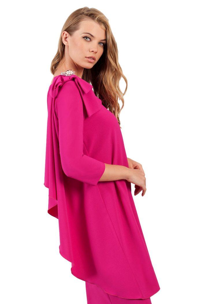 vestido corto fiesta rosa moncho heredia 1