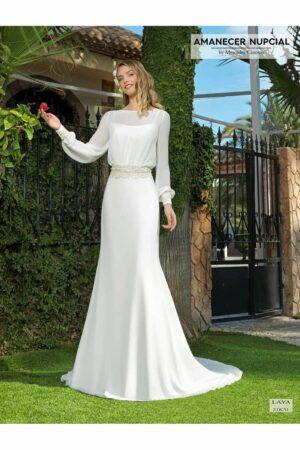 Vestido Novia Amanecer Nupcial Modelo 21K31 LAYA 10042