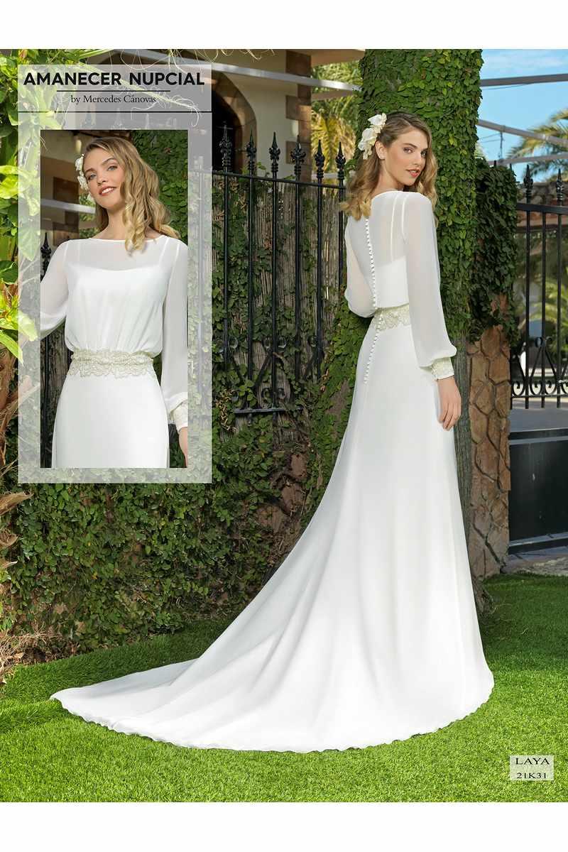 Vestido Novia Amanecer Nupcial Modelo 21K31 LAYA 10048
