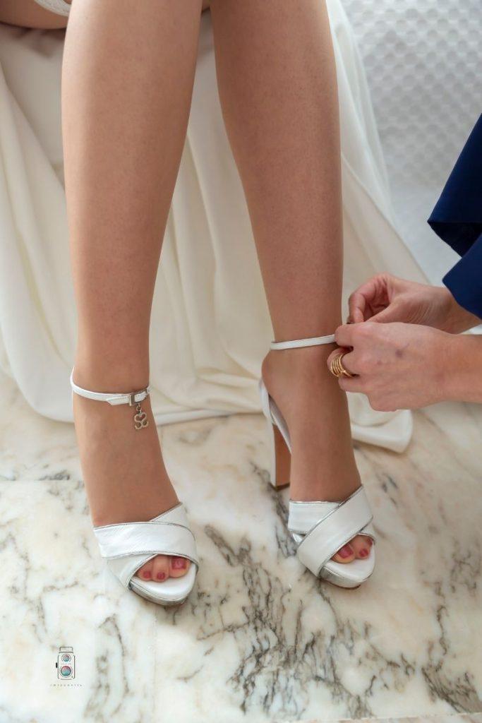 Zapato de novia color blanco