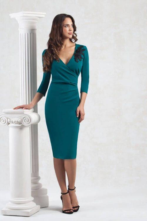 vestido elegante y sencillo