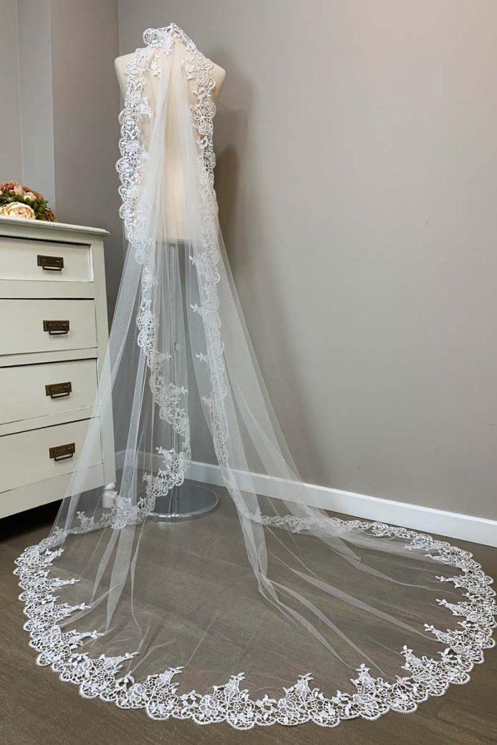 Velo de novia modelo 131213b