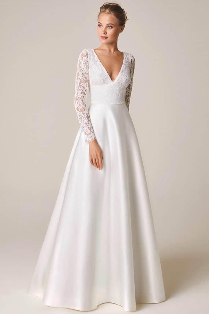 vestido boda civil corte princesa