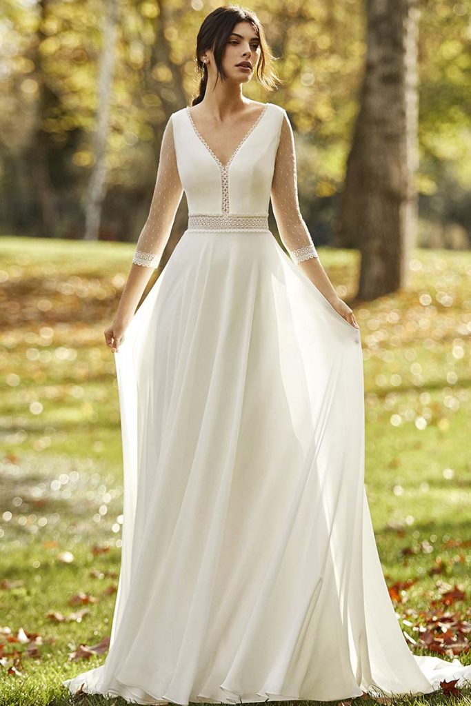 vestido-novia-manga-tul