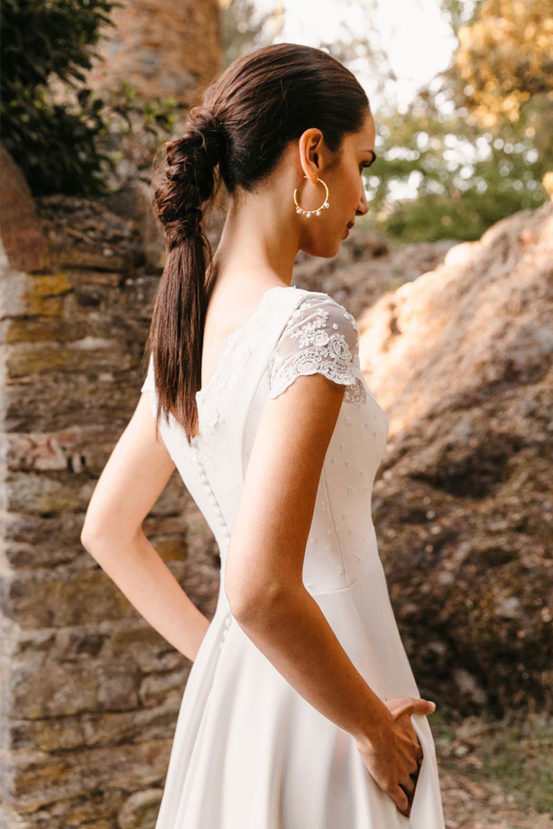 Vestido Novia Silvia Fernandez Modelo Dinamarca
